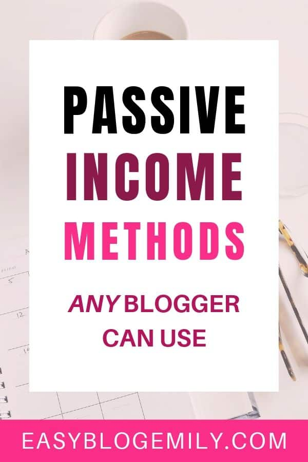 Passive income methods