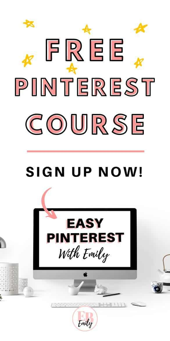 Free Pinterest course (sign up now)