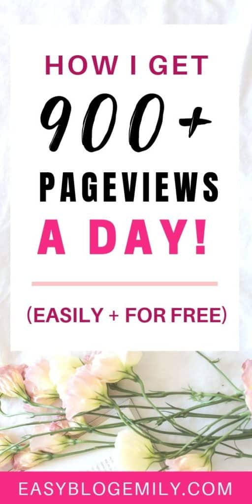 Want to grow your blog and get more blog traffic fast? Click to read how I get over 900 page views a day, to get blog traffic fast and grow your blog for free now. Find out how to grow your blog traffic, and grow your blog with Pinterest to become a pro blogger today #pinteresttips #growyourblog #getblogtraffic #problogger #bloggingforbeginners #getblogtraffic