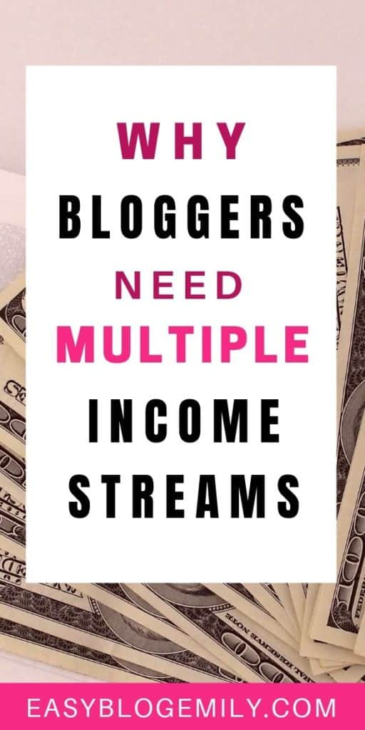 Want to make money blogging? Click to read the biggest mistake bloggers make when trying to make money blogging, and find out why you need multiple income streams for your blog to make money online now #bloggingtips #makemoneyblogging #onlineincome #makemoney